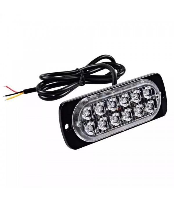 Lampa stroboscop SLIM cu LED dublu - culoare galbe...
