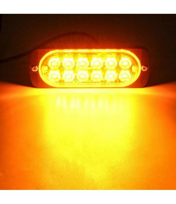 Lampa stroboscop SLIM cu LED dublu - culoare galben