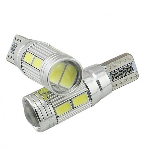 Set becuri pozitie LED dublu, T10 cu Canbus