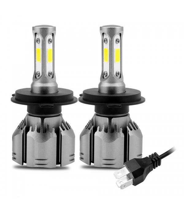 Set becuri H4 LED Cob, cu mufa