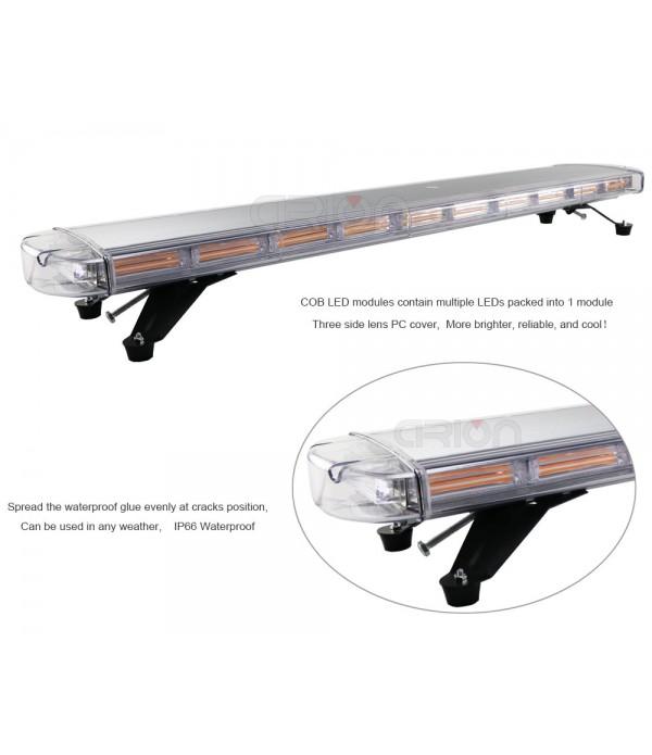 Girofar rampa LED, 103 cm, cu telecomanda, 12v/24v